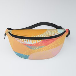Sunset On Hills and Sea  Fanny Pack