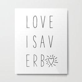 Love is. . . Metal Print