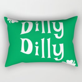 Dilly Dilly ST. Patrick's Day & Green Clover Rectangular Pillow