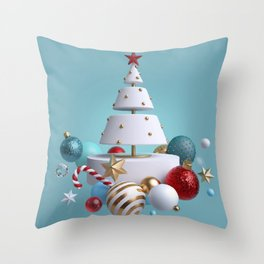 Cake Christmas Tree Throw Pillow