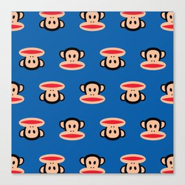 Julius Monkey Pattern by Paul Frank - Dark Blue Canvas Print