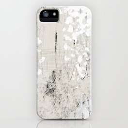 Grey and White Abstract with Black Texture: Scribble Series 02 iPhone Case