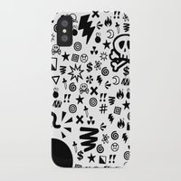 shit iPhone & iPod Cases featuring Shit by VineDesign