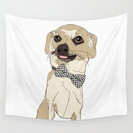 Chihuahua with Bow Tie Wall Tapestry