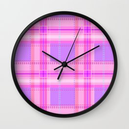 Cuter Than You Plaid Wall Clock