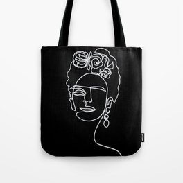 Frida Kahlo BW Tote Bag