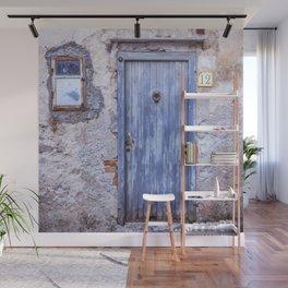 Old Blue Italian Door Wall Mural