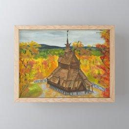 Fantoft Church Framed Mini Art Print