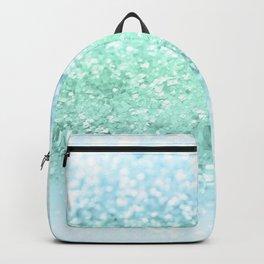 Aqua Seafoam Ocean Glitter #1 #shiny #pastel #decor #art #society6 Backpack