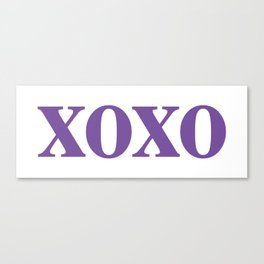 Purple XOXO Canvas Print