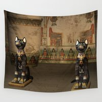 egypt Wall Tapestries featuring Egypt temple  by nicky2342