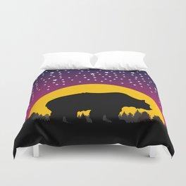 Bear Stars Moon Duvet Cover
