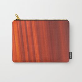 Red & Orange Sunset Stripes Carry-All Pouch