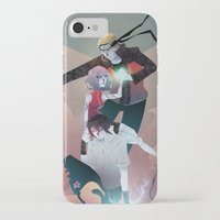 sasuke iPhone & iPod Cases featuring Nothing but Death by Serena Rocca