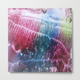 abstract composition of red and blue colours 2 Metal Print