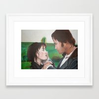 pride and prejudice Framed Art Prints featuring Pride & Prejudice by Caroline Ward