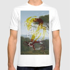 Patience White Mens Fitted Tee MEDIUM