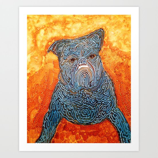 Blue Dog Art Print