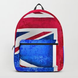 Grunge British Flag Backpack
