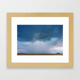 New Mexico - Down Came The Rain Framed Art Print