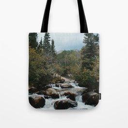 Rocky Mountain river Tote Bag