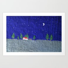 Night scenes Art Print