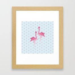 Origami Flamingo Framed Art Print