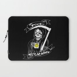 Good Mourning V2 Skulls and Coffee Laptop Sleeve