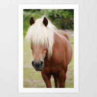 pony Art Prints featuring Pony by Heidi Franz