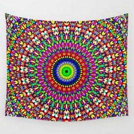 Vibrant Flower Garden Mandala Wall Tapestry