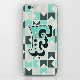 Letter F iPhone Skin