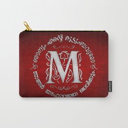 Joshua 24:15 - (Silver on Red) Monogram M Carry-All Pouch