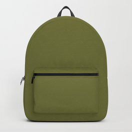 Autumn Reflection ~ Smoky Olive Green Backpack