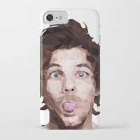 louis tomlinson iPhone & iPod Cases featuring Louis Tomlinson - One Direction by jrrrdan