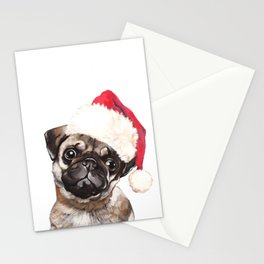 Christmas Pug Stationery Cards