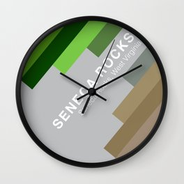 The colors of climbing spots - SENECA ROCKS Wall Clock