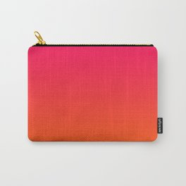 Bright Pink and Orange Ombre Carry-All Pouch