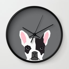 Parker - French Bulldog animal art modern colors for dog people Wall Clock