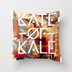 Kate of Kale's Slut Avenue Throw Pillow