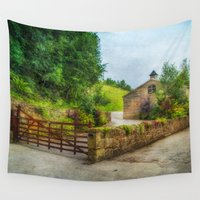 country Wall Tapestries featuring  Country Stables by Fine Art by Rina