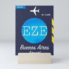 EZE Buenos Aires airport Mini Art Print