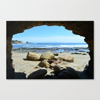 frame Canvas Prints featuring Frame by Monica Ortel ❖