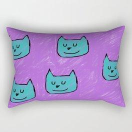 Cute Cats in blue Rectangular Pillow