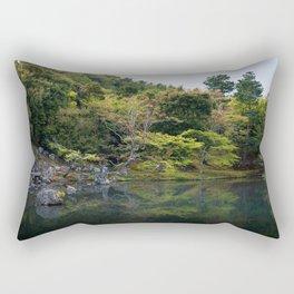Beautiful garden at Tenryu-ji temple, Kyoto, Japan Rectangular Pillow