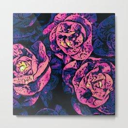 Textural Pop Art Plants Metal Print