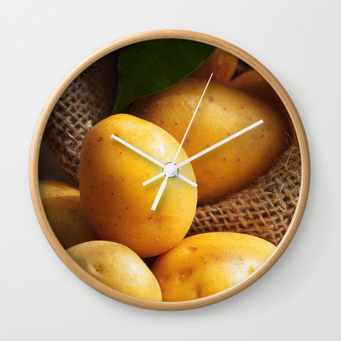 Farmer potato for your Design in the kitchen Wall Clock by tanjariedel