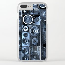 Music Speaker Sound Stack Clear iPhone Case