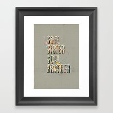 Soul Sister | Soul Brother - illustrations - Cover Framed Art Print