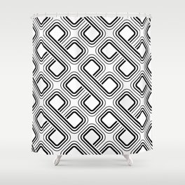 modern pattern geometri square Shower Curtain