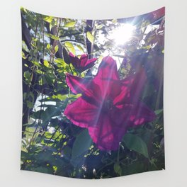 Pink Flower w/sunburst Wall Tapestry